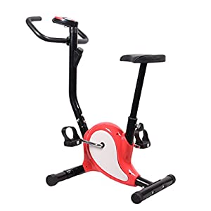 Indoor Adjustable Home Gym Fitness Pedal Exercise Bike Indoor Cycling with Upright LCD Display Folding Mechanism Training Cycle for Beginners Unisex Adult Children,Max Load 242lb