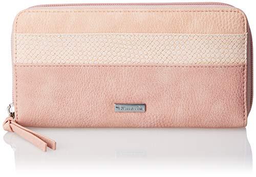 Tamaris Damen Khema Big Zip Around Wallet Geldbörse, Pink (Rose Comb.) 2x10x19.5 cm