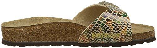 Birkenstock - Madrid Shiny Snake Sand, Sandali Donna Multicolore (Shiny Snake Sand)