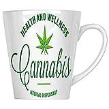 Gesundheits- und Wellness-Cannabis-Apotheke 34 cl Latte Tasse aa665L