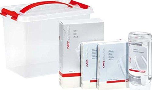 Miele GSA Geschirrspülerzubehör / Starter-Paket bestehend aus 1,5 kg Regeneriersalz, 500 ml Klarspüler, 40 Multitabs / Inklusive parktischer Aufbewahrungsbox