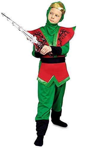 Ninja Floyd Kostüm für Kinder Gr. 116 (Kind Brustpanzer Kostüm)