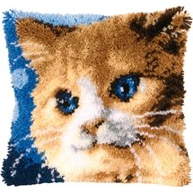 16-zoll-modell-kit (13 Modell Latch Hook Kit Cat Cushion Cover DIY Craft Needlework Crocheting Cushion Embroidery BZ719)