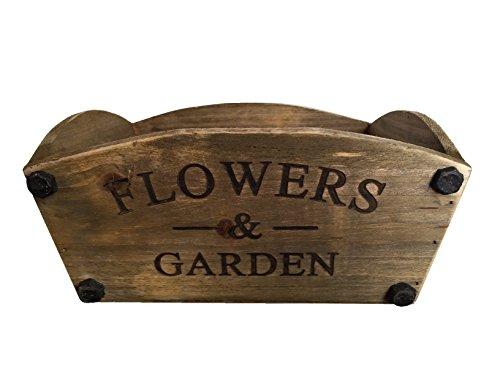 Nouvelle Maison de jardin en bois style vintage Fleur Panier jardinière – Fleurs