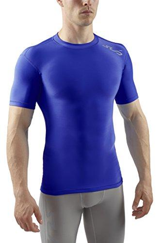 Sub Sports Herren Cold Kompressionsshirt Thermisch Funktionswäsche Base Layer kurzarm Royal, XL -