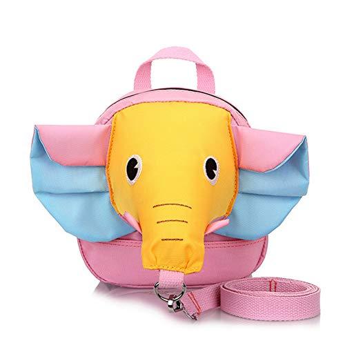 mxdmai Bolso Diseño Lindo del Elefante Mochila de Seguridad Anti-Perdida con Correa de Seguridad para los niños pequeños y niños pequeños (Nariz y Oído Amarillo Azul)