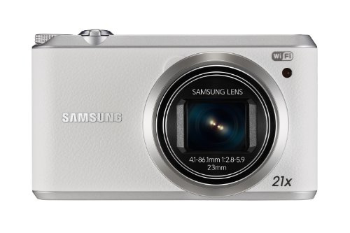Samsung WB350F Smart-Digitalkamera (16 Megapixel, 21-fach opt. Zoom, 7,6 cm (3 Zoll) Touchscreen) weiß