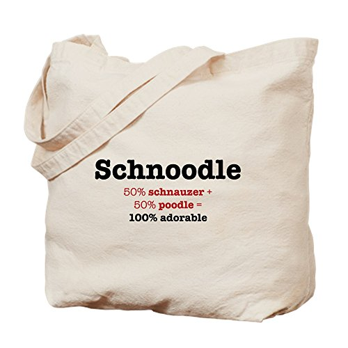 CafePress-Schnoodle-Designer Hund-Leinwand Natur Tasche, Reinigungstuch Einkaufstasche Tote S khaki -