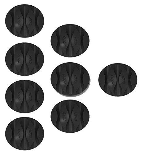 Draht-deckel Rack (JOTO Kabelhalter Kabelführung 8 Stücke Drei Kanal für Schreibtisch Wand Boden Schwarz …)
