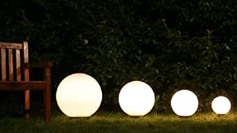 Set sfere luminose 4 globi da esterno illuminazione da for Set giardino esterno