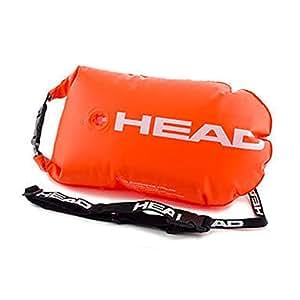 HEAD Saferswimmer-Bouée de sécurité pour la natation en eau libre avec poche imperméable à l'eau, orange