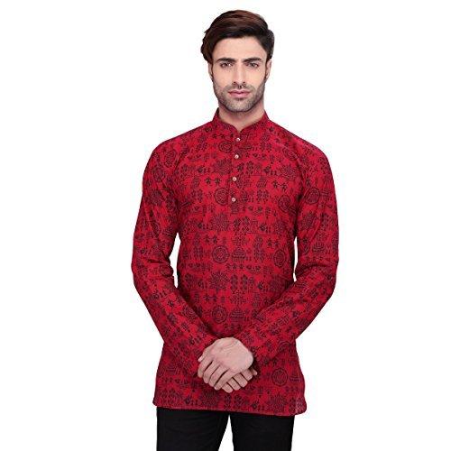 rg-designers-mens-full-sleeve-short-kurta-d6578maroonwarli