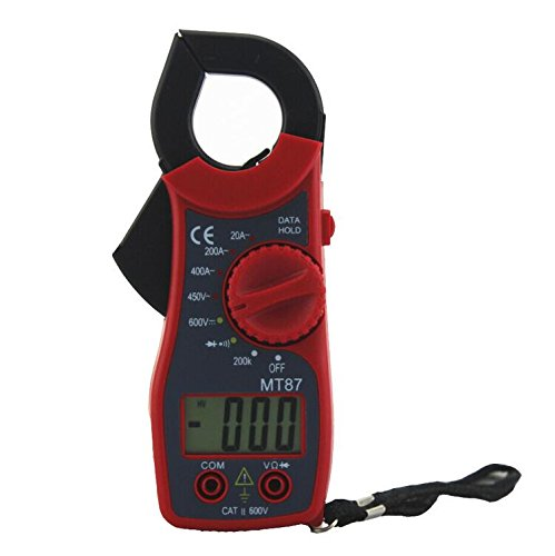 Zangenstrommesser MT87 multimètre Portable multimètre numérique électronique testeur AC / DC Mini pince multimètre Avec Clamp voltmètre / Clamp mètres / résistance de mesure / test de diode