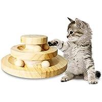 Pet Interactive Fun Roller, de madera maciza, plataforma giratoria para gatos, gato Teaser