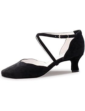 Anna Kern - Damen Tanzschuhe 572-50 - Velourleder Schwarz - 5 cm
