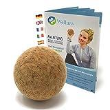 Hochwertiger Kork Massageball inkl. Gratis Übungsbuch - 6cm Faszienkugel gegen Verspannungen - natürliche Triggerpunkt Akupressur Massage - Faszientraining zur Selbstmassage - Naturprodukt
