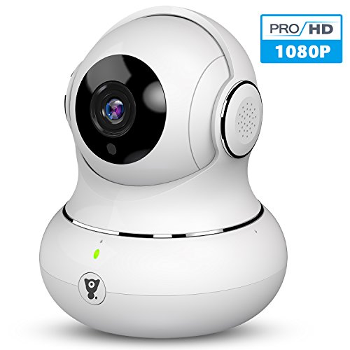 Dome Security Cam (Littlelf 1080P HD Überwachungskamera WLAN IP Kamera, 3D Panorama Home WiFi kamera mit 350°/105°Schwenkbar, Haustier und Baby Monitor mit Bewegungserkennung, 2-Wege Audio, Nachtsicht, unterstützt Fernalarm)