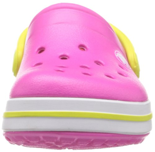 Crocs Crocband Kids, A bout rond mixte enfant Rose (Neon Magenta/Citrus)