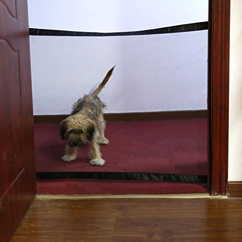Maritown Pet Gate, tragbarer Faltbarer Maschensiebzaun einfach überall installieren Halten Sie Hunde Katzen von der Küche/im Obergeschoss/Innen/Treppe fern -