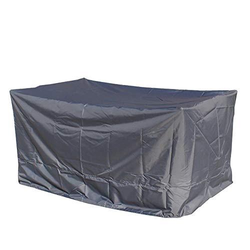 Housse de Protection Couverture extérieure grise d'ensemble de meubles, couverture rectangulaire de poussière de patio de jardin pour la table et la chaise (Couleur : 320 * 230 * 70cm)