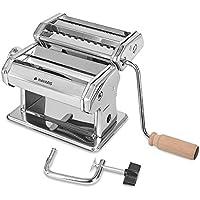 Navaris Máquina para Hacer Pasta Fresca - Accesorio de Cocina para Hacer lasaña tagliatelle espaguetti - Aparato para Estirar Masa de Pasta casera