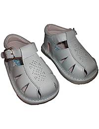 Indice 1594 - Zapatos Bebé Unisex Piel nacarado Beig bautizos (17)