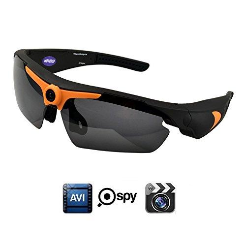 OOLIFENG Sonnenbrille Kamera, Full HD 1080P Mit Weiter Winkel Mini Kamera Versteckte Kameras Für Draußen Sport