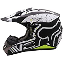 58627feb381 Qianliuk Casco Motobike Negro de Carretera Moto Full Cascos Motocross Casco  Adulto