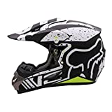 Qianliuk Casco Motobike Negro de Carretera Moto Full Cascos Motocross Casco Adulto