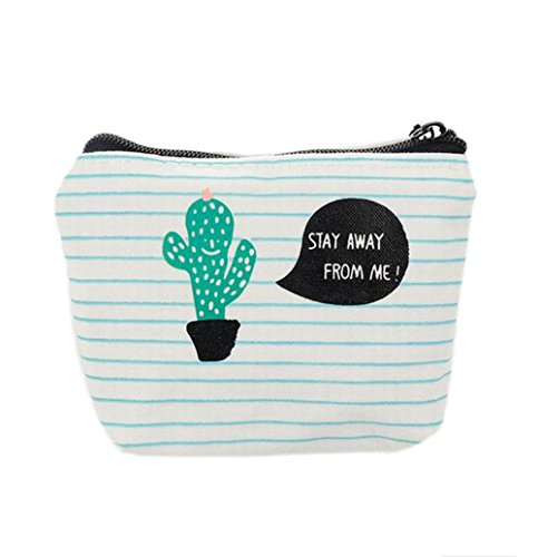Dosige 1Pcs Cactus Mini Coin Purse Wallet Key Holder Purse Clutch Bags for for Women Girls (A Cactus Pattern)