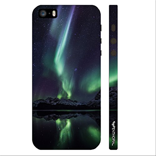 Enthopia Designer Hardshell Case Northern Lights Back Cover for Apple Iphone 5,5s,SE  available at amazon for Rs.125