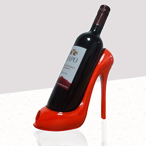 Kicode Absatz-Schuh-Form Weinflaschenhalter Stilvolle Weinregal Zubehör für Hauptdekor