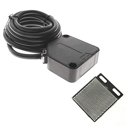 BeMatik - Reflex-Lichtschranke Photoschalter Foto Elektrische Sensor NO+NC 24-240VAC 24-240VDC 10-30cm Foto-sensor