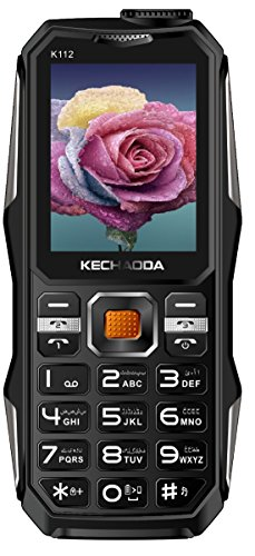 Kechaoda K112 With TRIPLE SIM, 2.4 Inch Display, Wireless FM With Recording, 3200 MAh Battery, BLUETOOTH, BIG SPEAKER, POWER BANK FEATURE, Speed Dialing, Auto Call Recording, VIBRATION, REAR & SELFIE CAMERA, BIS CERTIFIED & 1 YEAR (Black)