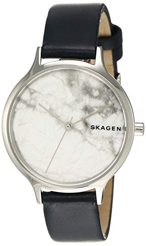 Skagen Damen Analog Quarz Uhr mit Leder Armband SKW2719
