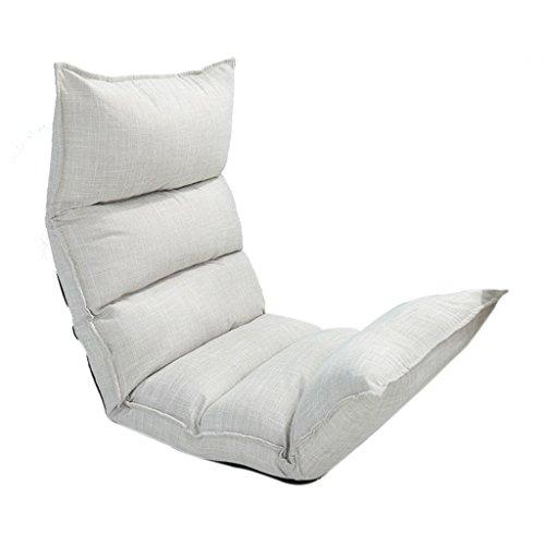 Almohadas Cojín de Lectura Lazy Couch Sofá Individual Plegable Silla Dormitorio Lindo Sillón Color...