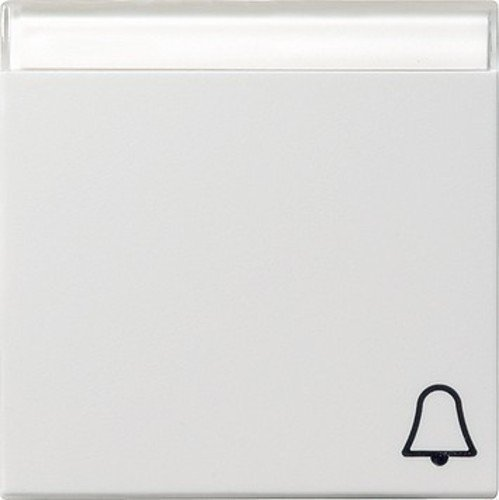 Gira 067303 Wippe Symbol Klingel Beschriftungsfeld System 55, reinweiß
