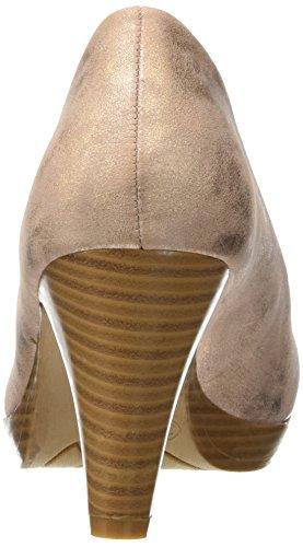 Initiale Safora, Escarpins Bout Fermé Femme Beige (Nude)