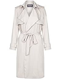 Anastasia Womens Soft Beige Unlined Trench Coat