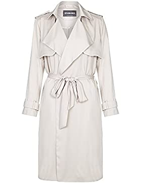 Anastasia-Womens Soft Grey Unlined Trench Coat