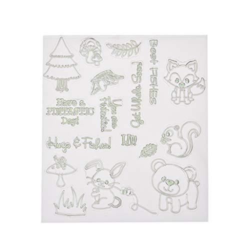 Lazder Forest Zoo Silikon-Stempel für Album, Scrapbooking, Fotos, Kartendekoration