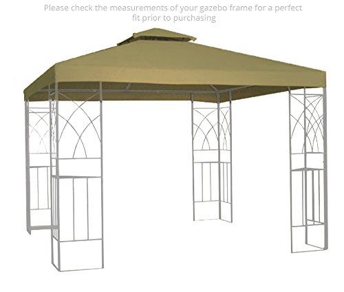 Kenley Wasserfest Pavillondach Ersatzdach Festzelt Gartenpavillon Dach – 3m x 3m – Beige