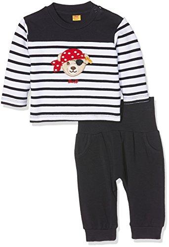 Steiff Baby-Jungen Bekleidungsset 2tlg. Set Sweatshirt + Jogginghose, Mehrfarbig (Y/D Stripe 0001), 68