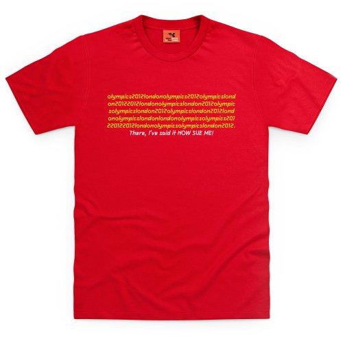Sue Me T-Shirt, Herren Rot