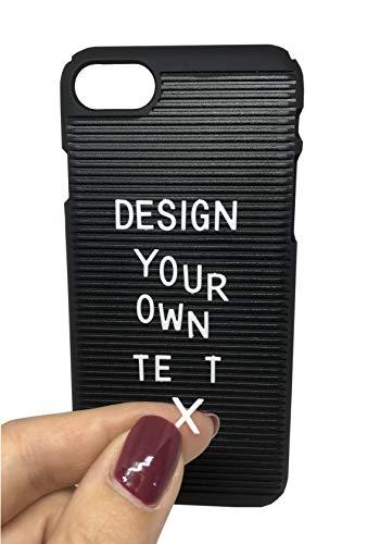 Lettercase Handyhülle passend für iPhone 7 / iPhone 8 - inkl. 55 Buchstaben für eigenen Text - Hard Case im Letterboard-Design, schwarz