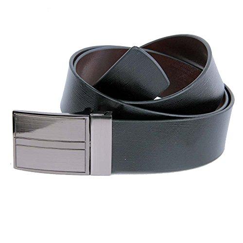 KIKO Men Formal,Casual Black Brown Tan Reversible Genuine Leather Belt