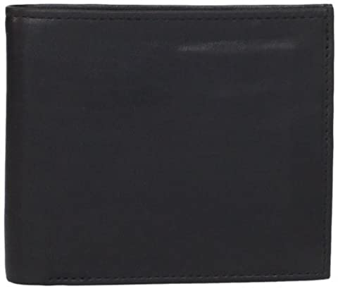 Allen Edmonds Men's Billfold Burnished Perf, Black/Royal, One