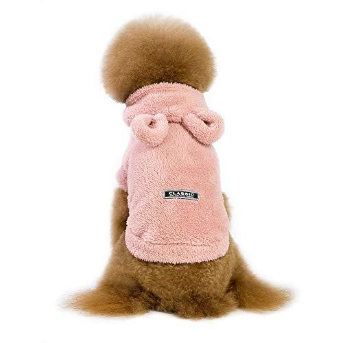 Etophigh Haustier-Winter-Normallack-Kostüm-Korallen-samt-Hoodie für kleine mittlere große Hunde,Hundedicken-Mantel mit Trägheit tragen Bären-Form/Kaninchen-Big Ears Doggy-Pullover (Bären Kostüm Für Große Hunde)