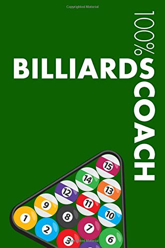 Billiards Coach Notebook: Blank Lined Billiards Journal For Coach and Player por Elegant Notebooks