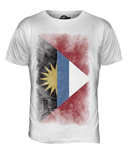 CandyMix Antigua Und Barbuda Verblichen Flagge Herren T Shirt Weiß